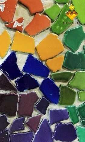 цветной дизайн камина