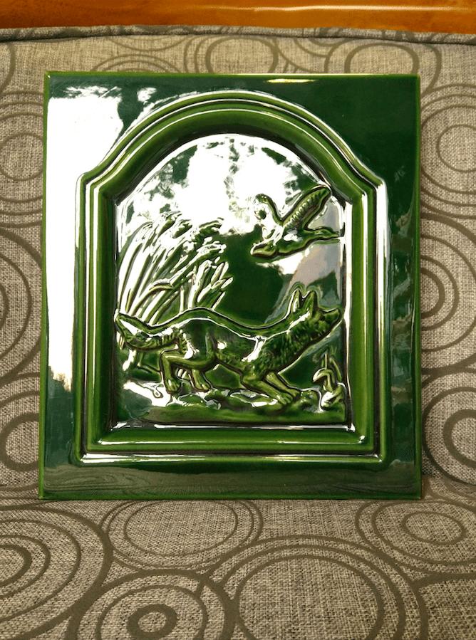 Зеленый изразец