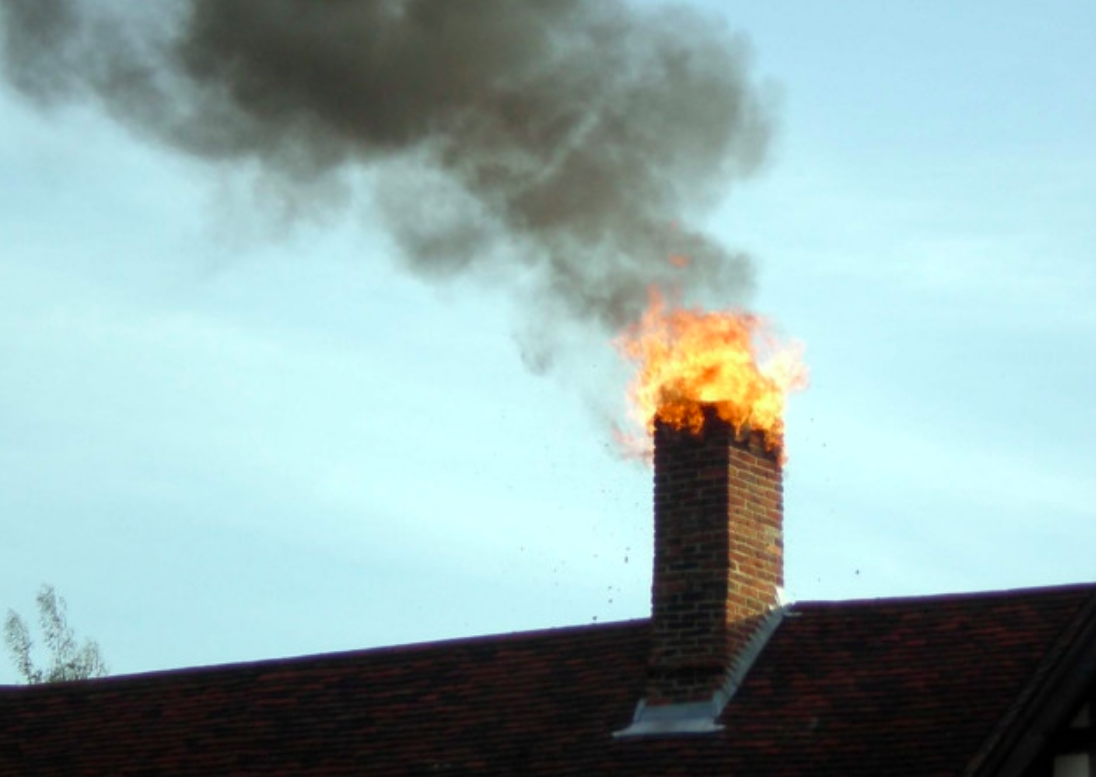 Огонь с дымохода