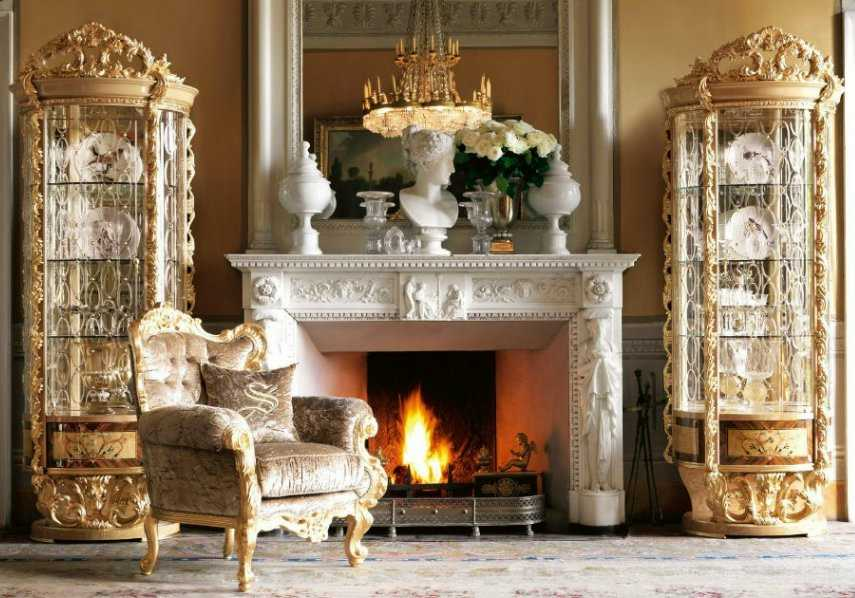 камин в викторианском стиле