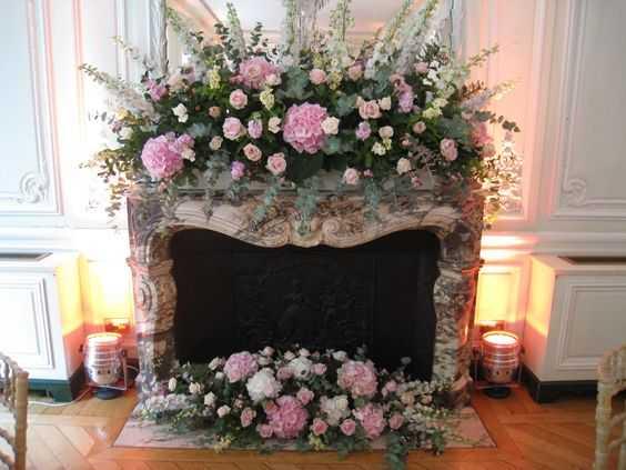 цветочный камин